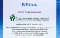 certifikat Program odgovornega ravnanja